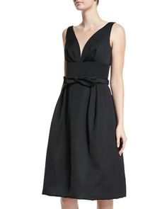Sleeveless+Bow-Detail+Dress,+Black+by+Escada+at+Neiman+Marcus.
