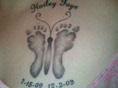 "child memorial tattoos....I haven't ""lost"" a child, but I have had numerous miscarriages. This is still cute for my girls!!"
