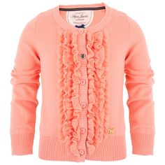 Pepe Jeans Peach frill front cardigan