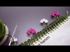 YouTube Slip Stitch Crochet, Bobble Stitch, Easy Crochet, Crochet Bolero Pattern, Crochet Edging Patterns, Crochet Leaves, Crochet Flowers, Crochet Flower Tutorial, Simplicity Patterns
