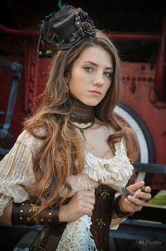 Steampunk. Alexandra . train by Allsteam.deviantart.com on @DeviantArt