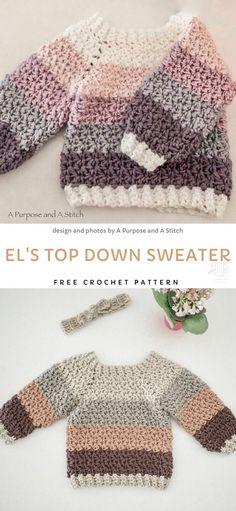 Crochet Toddler Sweater, Crochet Baby Sweaters, Bag Crochet, Crochet Bebe, Crochet Baby Clothes, Crochet For Boys, Cute Crochet, Baby Knitting, Baby Pullover Muster