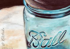 BALL JAR 5 x 7 inch print signed by artist on Etsy, $15.00