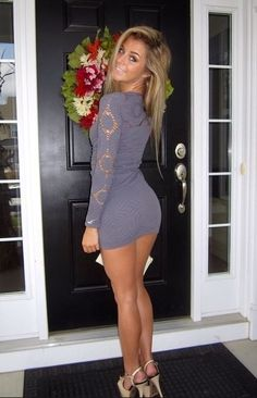 Nice legs under short and tight