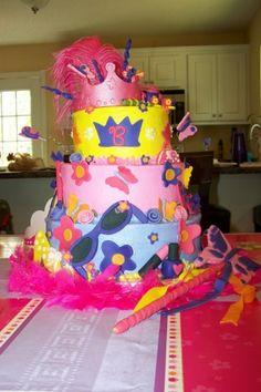 Fancy Nancy cake by erin