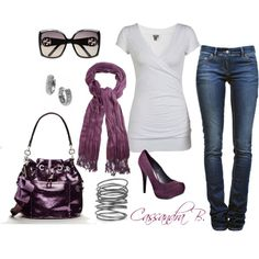 Purple, created by cbrzozo13 on Polyvore