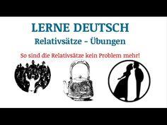 Lerne Deutsch: Relativsätze - Übungen. TEIL 2 - YouTube German Grammar, German Language, Dativ, German Resources, Word Order, Learn German, Help Teaching, Student Gifts, Languages