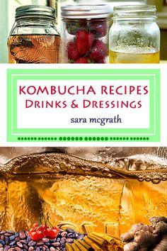 Kombucha Recipes Drinks & Dressings by CraftsMoonValley on Etsy