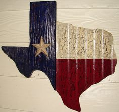 TX003  Texas Shaped Texas Flag by DiaMorDecor on Etsy, $55.00