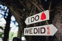 Photography by Sayher Heffernan. DIY wedding sign