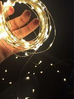 NEW!10M 33FT 100Led 3AA Battery Powered Decoration LED Copper Wire Fairy String Lights Lamps for Christmas Holiday Wedding Party