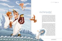 Brothers Grimm Fairy Tales by Andreas Krapf, via Behance