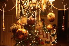 111 best christmas chandelier images on pinterest christmas deco its written on the wall see 7 different christmas chandeliers beautiful christmas decor aloadofball Image collections
