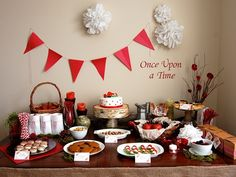 -Little Red Riding Hood- decoration, invite and food ideas