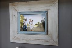 Wide Wood Uber Distressed Wood Frame Notre Dame Grey and Baby Blue Simple Trim Picture Frame Distressed Picture Frames, Wood Picture Frames, Picture On Wood, Distressed Wood, Decoupage, Picture Boards, Photo Projects, Wood Projects, Rustic Frames