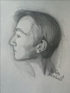 Portrait practice. ©Madeline Secules#TDQ (Reference: my brother Oliver.) (This is my first time drawing a portrait of someone. And it turned out really good!!!! :)
