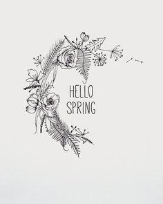 Hello spring  flower wreath design by me