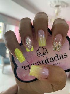 @encantadasnails Uñas Decoradas ?  #encantadasnails Cute Nails, Pretty Nails, Gorgeous Nails, Gem Nails, Hair And Nails, Hello Nails, Diy Nail Designs, Best Acrylic Nails, Creative Nails