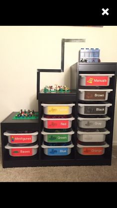 LEGO sorter. LEGO storage. Removable decals for IKEA Trofast/ plastic bins: http://etsy.me/2oZ3eEr