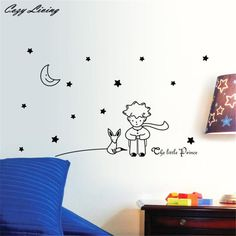 Wall Stickers 3 Colors 1PC Stars Moon The Little Prince Boy Wall Sticker Home Decor Wall Decals Cartoon Window Sticker D8 * For more information, visit image link. #HomeDecor