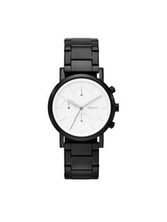 SoHo Matte Black Chronograph Watch - DKNY