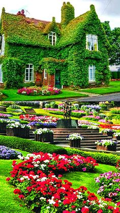 Extending the garden over the house! Most Beautiful Gardens, Beautiful Flowers Garden, Amazing Gardens, Beautiful World, Beautiful Homes, Beautiful Places, Beautiful Landscape Wallpaper, Beautiful Landscapes, Beautiful Nature Pictures