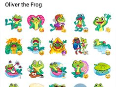 Oliver the Frog Sticker pack - Telegram Stickers Library Telegram Stickers, Bowser, Packing, Fictional Characters, Bag Packaging, Fantasy Characters