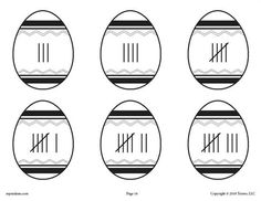 FREE Printable Easter Egg Number Matching Activities & Games for Preschoolers - Numbers 1-10! Practice matching tally marks to 7 other number representations including numeric numbers, number words, number words with dots, ten frames, sign language, and Roman numerals for nearly endless possibilities. Get it FREE here --> https://www.mpmschoolsupplies.com/ideas/7933/free-printable-easter-matching-game-activity-numbers-1-10/