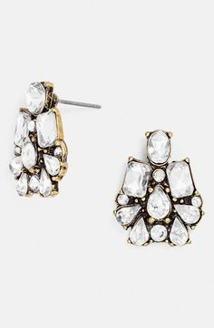 crystal cluster drop earrings / baublebar