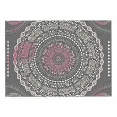 Kess InHouse Frederic Levy-Hadida Candy Cat Purple Rainbow Purple Memory Foam/Bath Mat 17 by 24