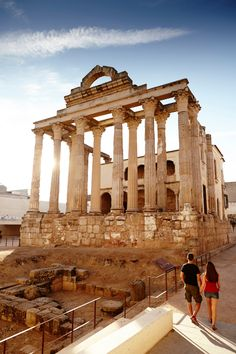 See the sights. The Temple of Diana, in Extremadura, Spain.