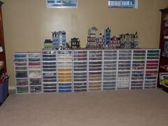 Lego Storage My kids would go crazy to have that many lego's. Awesome storage makes building much easier. Lego Shelves, Lego Storage, Make Build, Lego Brick, Going Crazy, Legos, Shoe Rack, Children Playroom, Bricks