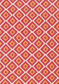 Carole printed cotton fabric in Pink & Orange from the Avalon Collection by #Thibaut  #tangerinetango #diamondlove
