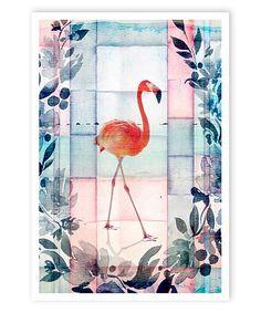 Loving this Flamingo Beach Print on #zulily! #zulilyfinds
