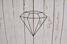 Diamond Vinyl Wall Decal by Msapple on Etsy