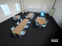 Smith System Wing Desk Configurations - 6s #classroomdesks
