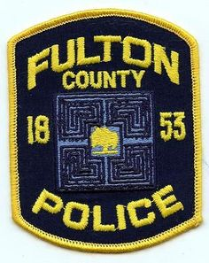 Embroidered Shoulder Patch Fulton County Georgia Police Department Officer LEO
