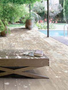 Ceramic Tile Garden Wooden Floor