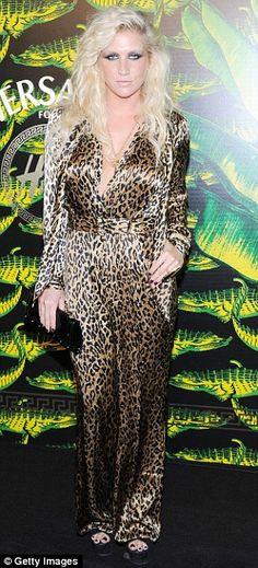 Ke$ha's animal print jumpsuit @Courtney Thomsen Bachelorette party attire? :)
