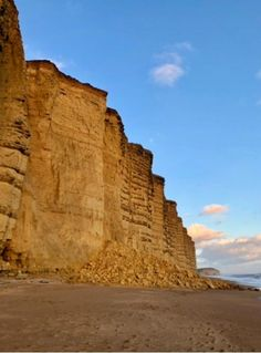 Huge rockfall at West Bay- 1000 tonnes. Picture: WEST BAY COASTGUARD