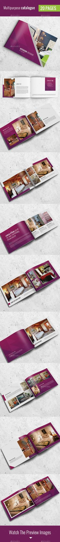 Simple Catalog / Portfolio / Brochure 2 — Photoshop PSD #book #booklet • Available here → https://graphicriver.net/item/simple-catalog-portfolio-brochure-2/12058792?ref=pxcr