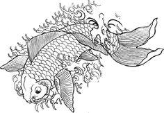 Plantillas para tatuajes del pez koi 4