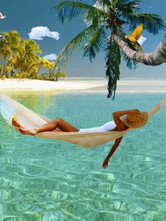 The perfect Relax Chilling Vacation Animated GIF for your conversation. Discover and Share the best GIFs on Tenor. Beautiful Gif, Beautiful Beaches, Gif Animé, Animated Gif, Summer Gif, Foto Gif, Amazing Gifs, Animation, Moving Pictures