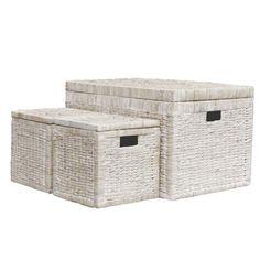 Home Storage > Buttermere Rattan Storage Trunk Set