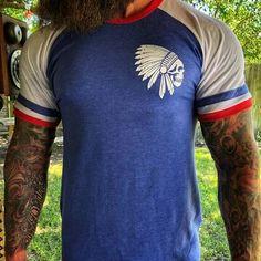 Chief color-block printed short-sleeved T-shirt – colorfultop T Shirt And Shorts, Printed Shorts, Cool Shirts For Men, Men Shirts, Textiles, Mens Clothing Styles, Men's Clothing, Online Clothing Stores, Casual T Shirts