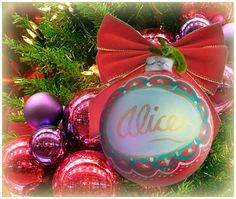 """Alice"" Ornament / Christmas Ornaments / Days of our Lives / #DAYS"
