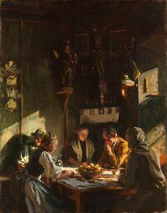 John Singer Sargent - Tyrolese Interior. part 1 Metropolitan Museum.