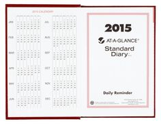 Amazon.co.jp: [AT-A-GLANCE] 2015 スタンダードダイアリー 手帳 赤 AT-A-GLANCE Standard Diary 5.75 x 8.25 Inch Page Size Red: 文房具・オフィス用品