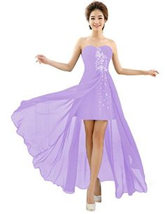 Vimans Womens High Low Light Purple Beaded Wedding Dress Bridal Gowns 2 ** You can find more details by visiting the image link.