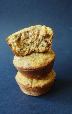 Muffins veganos de zanahoria